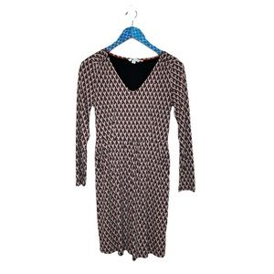 Boden Romilly Jersey Print VNeck Long Sleeve Dress